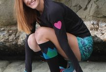 Run Love™ Collection / We've always loved running and love sharing this passion through our designs.  Our Run Love™ collection features hearts incorporated into our vibrant prints, reflective hearts on the sleeves of our runlove long sleeve tops, compression socks with hearts and more!