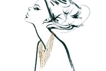 L O O K B O O K / Lookbook created by Anna Orska and Anna Halarewicz- Polish painter and fashion illustrator