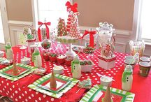 Christmas red and lime green