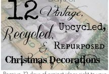 Holidays | 12 Days of Vintage & Repurposed Christmas Decorations Group Board / This board is for those who have signed up for my 12 Days of  Vintage, Upcycled, Recycled, & Repurposed Christmas Decorations email list to share ideas for ornaments or other decorations.    If you'd like to join the group, please sign up for the FREE emails first, then leave a comment on one of the pins on this board.  You can sign up for the emails here: http://eepurl.com/bnEp-L / by Ann @ Duct Tape and Denim