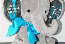 Baby Birth Announcements / Personalized Plush Birth Announcements