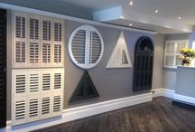Our Sidcup showroom / Here is our range of shutters samples including a full size bay window & bi-fold tracked shutters. 132 Station Road, Sidcup, Kent DA15 7AB