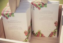 Invites and wedding favors