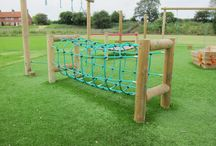 Adventure Trails Playground Equipment / Equally at home in schools or public play areas adventure trails are an ideal way to allow children to play together. This equipment is designed to encourage the development of fitness, agility, co-ordination and balance.  Our trails are there to inspire and with a comprehensive range of over forty to choose from. Generally, due to the low fall height, if installed into a grassed area, there is no safety-surfacing requirement.  http://www.actionplayandleisure.co.uk/trim-trails/