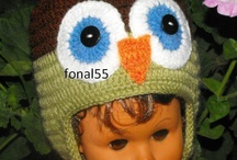 Owl crochet caps / Children's hats