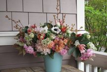 April 2015 Slow Flowers Challenge / All my wonderful April arrangements - from my garden and from local flower farms.