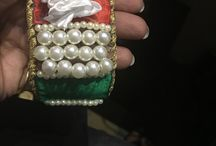 Bracelet on plastic bottle theme of India 15 th August / Old plastic bottle pearls big and small satin ribbon thread and nidle
