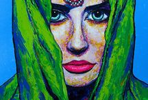 """My """"India Art Series"""" / Paintings from my """"India Art Series"""""""