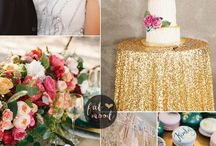 Danielle & Dominic / Design Ideas for Danielle & Dominic's Winter Wedding with jewel tone and science-inspired elements.