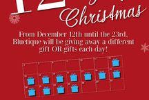 Bluetique's 12 Days of Christmas!