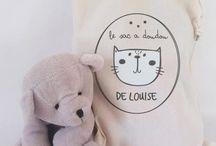 Sac pour enfant, bébé / Sacs à doudou, sac à jouets, tote bag destinés à nos enfants.