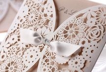 Lace wedding invatation