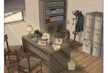studies of environments / environments of my comics