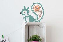 Nursery wall stencils from The Stencil Studio