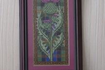 Scottish thistle applique