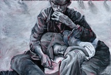 art of the holocaust   Judith Dazzio painting - Holocaust