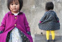 Cute little girls homemade wardrobe
