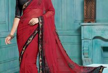 Peppy printed sarees