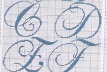 lettere per tovaglia matrimonio