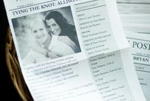 Wedding newspaper. / Wedding newspaper, wedding ideas, special wedding ideas.