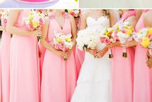 Pink yellow wedding