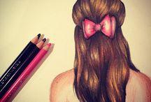 persoon/haar tekeningen