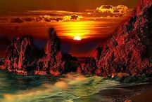 beautiful sunsets around the world