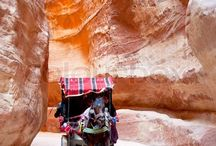 Petra - The Nabatean Red-rose city / Petra is one of the 7 world wonders and a UNESCO World Heritage site. This ancient city is massive, and contains hundreds of elaborated rock-cut tombs, a treasury, Roman-style theaters, temples, sacrificial altars and colonnaded streets.