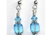 Swarovski Crystal Earrings by Sky Blue Designs / These sparkling earrings can be yours. Just go to www.skybluedesigns.com or follow the links on each pin. Earrings are available in a variety of colors, and most are available in Gold Filled as well as Sterling Silver.