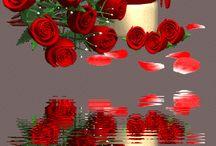 Judit csodás virágai,képei  Kitti Virág / Gyönyörű rózsacsokrok,virágok Tájak,GIF képek,csilligó morgó képek,Gyönyörű festmények