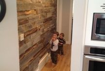 Wood accent walls