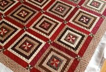 Quilts Red and Brown