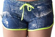 Pantaloncini sportivi  jeans donna shorts fitness corti hot pants sport palestra gym