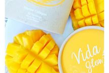 MANGO VIDA GLOW / The Mango powder used in this delicious flavour is derived from Australian Kensington Pride Mangoes. Australian Mangoes provide more beta – carotene than other fruits. Beta-carotene is a powerful antioxidant that can help protect the body against disease as well as preventing the signs of ageing by assisting with the growth and repairing of cells, tissues and skin.