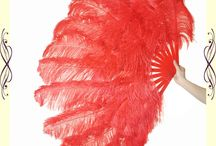 Double-layer&Feather Fan&Ostrich&show / This new sexy feather fan is made by fluffy ostrich wing feathers (2 layer),It is great for professional dancing and Burlesque decor.  This feather fan is made by 2 layer feathers: up layer and down layer up layer is with 12 longer feathers (about 55-60cm) down layer is with 12 shorter feathers (about 45-50cm)