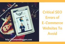 Ecommerce SEO | ContentBloggers / Is your E-commerce Store SEO having many errors? Then read this post on Critical SEO errors of e-commerce websites and solutions to better optimize your ecommerce store. http://contentbloggers.com/critical-seo-errors-of-e-commerce-websites-to-avoid/