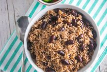 """Sunday lunch / Jamaican Sunday lunch is a special feast full of spices and lots of hearty dishes. Some Jamaicans refer to it as """"Sunday Monday"""" as there is always lots of leftovers for Monday."""