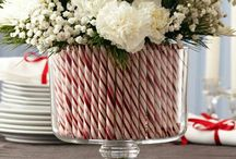 Candy Cane Christmas vase and other.
