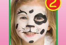 maquillaje cara niños