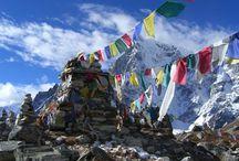 Banderas de oración tibetana / Bandera de oración tibetana estilo Lung ta o caballo de viento