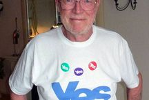 Show your support! Yes Scotland / Supporters in/with their Yes Scotland Merchandise