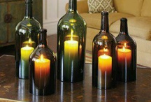 Vinflasker / stearin /