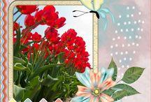 Mei '14 Ivy Scrap MP lo's / hier mijn mini pixel lo's van Mei '14 met kits van Ivy Scrap designers