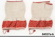 Knitted folk mittens