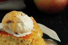 Apfelkuchen mit honig und oel