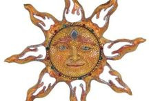 Sunshine, Moon and Celestial Decor / Suns and moons on your walls for your home.