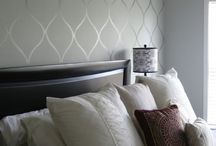 Wall paper accent walls
