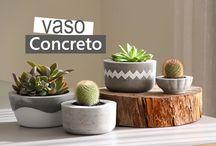 vasos de concreto