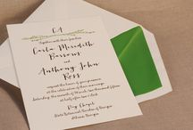 Spring Wedding Inspiration / Invitations that pair perfectly with the sweetest season.