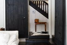 Black Japan or Painted White Timber floorboards